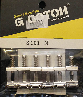 Gotoh Strat Pressed metal Saddle Set