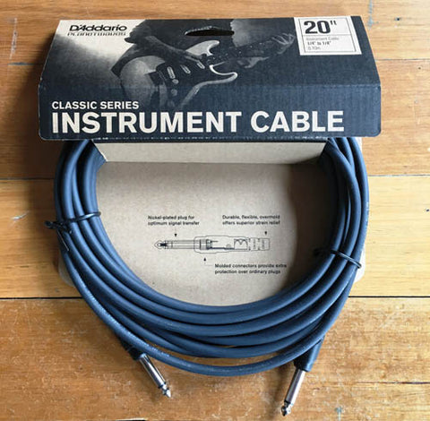 Planet Waves Instrument Guitar Lead 20 foot - Guitar Emporium