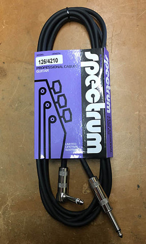 Spectrum 10 ft Guitar Lead - Right Angle Jack - Guitar Emporium