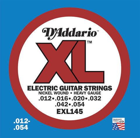 D'Addario 12-54 Nickel Wound Electric Guitar Strings - Guitar Emporium