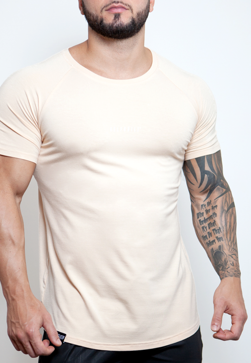 Ultrasoft Lifestyle Tee - Tan - selfbuiltapparel.co