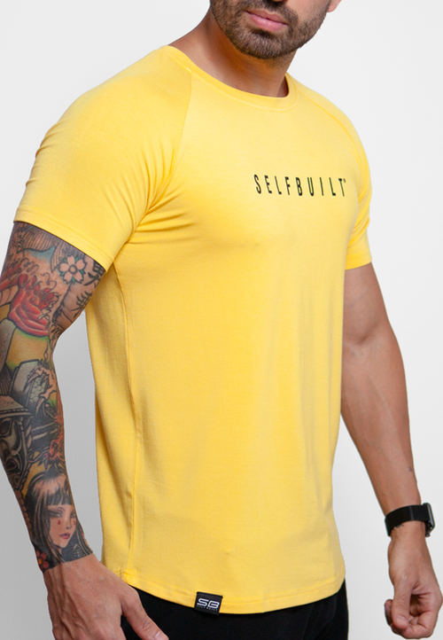 Ultrasoft Lifestyle Tee - Yellow - selfbuiltapparel.co