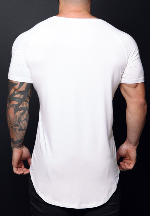 Ultrasoft Lifestyle tee - Pearl white - selfbuiltapparel.co