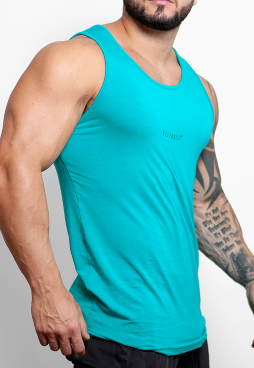 Ultrasoft Lifestyle Tank - Teal - selfbuiltapparel.co