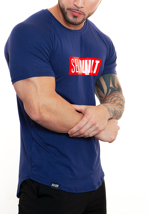 UltraSoft Lifestyle Tee - Navy - selfbuiltapparel.co