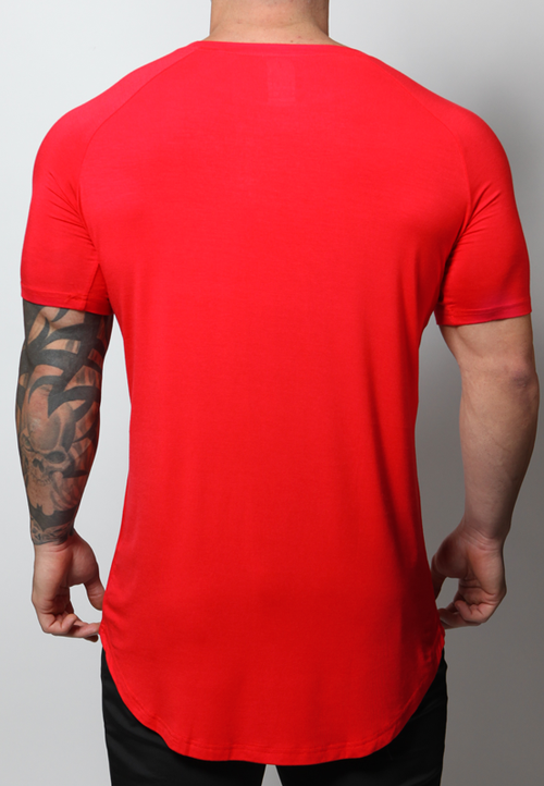 Ultrasoft Lifestyle Tee - Crimson Red - selfbuiltapparel.co