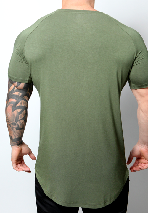 Ultrasoft Lifestyle Tee - Military Green - selfbuiltapparel.co