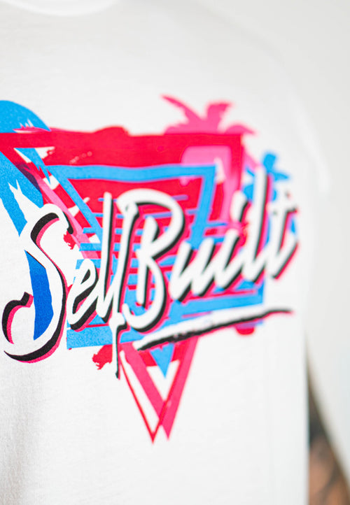 Miami Vice Tee - White - selfbuiltapparel.co