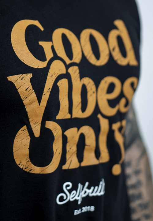Good Vibes Only Tee - selfbuiltapparel.co