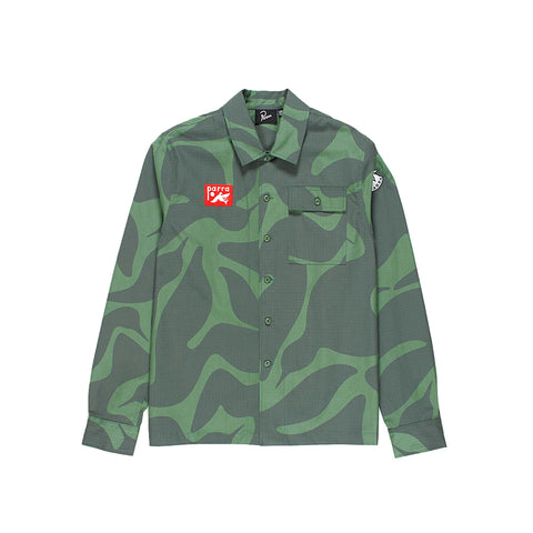by PARRA<BR>BIRD CAMO LONGSLEEVE SHIRT