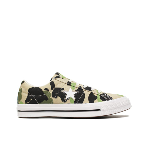 CONVERSE <BR> ONE STAR OX 'CAMO' (CANDIED GINGER)