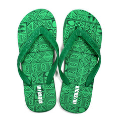 "KICKS/HI <BR> HAYN ""TAPA"" SLIPPER (GREEN/BLACK)"