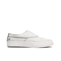 HUF <BR> DYLAN SLIP-ON OVERPAINT (WHITE/BLACK)
