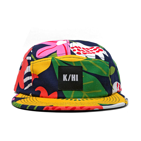 KICKS/HI <BR> 'POWER FLOWER' MADE IN USA 5-PANEL CAMP CAP