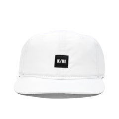 "KICKS/HI <BR> ""K/HI BOX"" LOGO UNSTRUCTURED 6-PANEL CAP (WHITE MICRO RIPSTOP)"