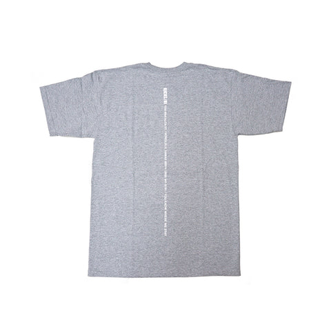 "KICKS/HI <BR> ""BACKBONE"" TEE (HEATHER GREY)"