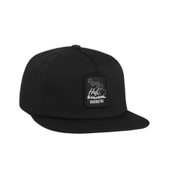 "KICKS/HI X HUF <BR> ""HOME GROWN"" TRUCKER HAT (BLACK)"