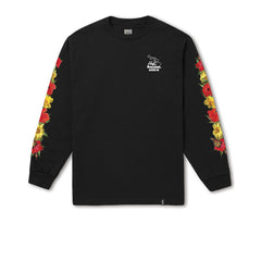 "KICKS/HI X HUF <BR> ""HIBISCUS HIGH"" L/S TEE (BLACK)"