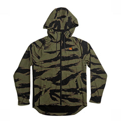KICKS/HI <BR> HURLEY PHANTOM ZIP-UP HOODED WINDBREAKER (DISRUPT CAMO/BLACK)