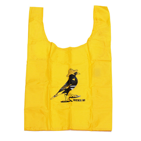 KICKS/HI X BAGGU 'MYNAH' RESUABLE TOTE BAG (YOLK YELLOW)