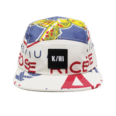 "KICKS/HI <BR> ""RICE BAG"" 5-PANEL CAMP CAP (NATURAL / MULTI)"