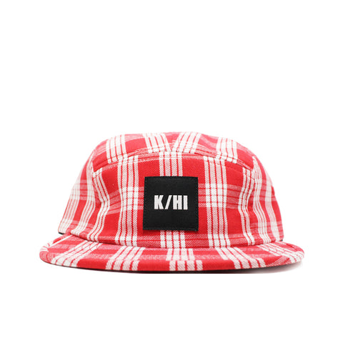 KICKS/HI <BR> 'PALAKA' MADE IN USA 5 PANEL CAMP CAP SUMMER '19 (RED)