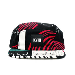 "KICKS/HI <BR> ""SWEET ONION"" MADE IN USA 5-PANEL CAMP (BLACK/MULTI)"