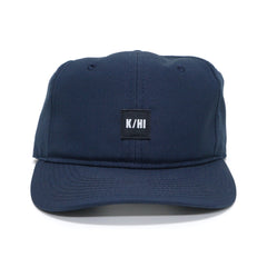 KICKS/HI <BR> 'K/HI' BOX LOGO UNSTRUCTURED 6-PANEL CAP (NAVY MICRO RIPSTOP)