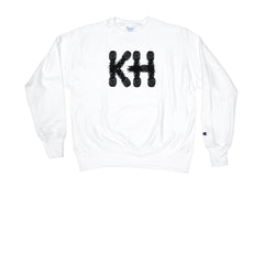 KICKS/HI <BR> CHAMPION 'KH PINEAPPLES' REVERSE WEAVE L/S CREWNECK (WHITE)