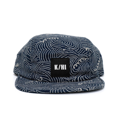 KICKS/HI <BR> 'KAIMANA' MADE IN USA 5 PANEL CAMP (PAST THE BREAKER BLUE)