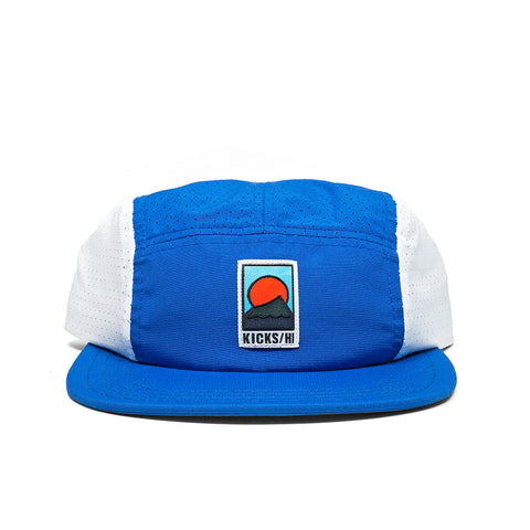 KICKS/H<BR>FA'20 'SPORTS & REC' UNSTRUCTURED 5-PANEL MICRO RIPSTOP RUN CAP (ROYAL BLUE/WHITE)