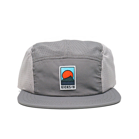 KICKS/H<BR>FA'20 'SPORTS & REC' UNSTRUCTURED 5-PANEL MICRO RIPSTOP RUN CAP (CHARCOAL/STEEL)