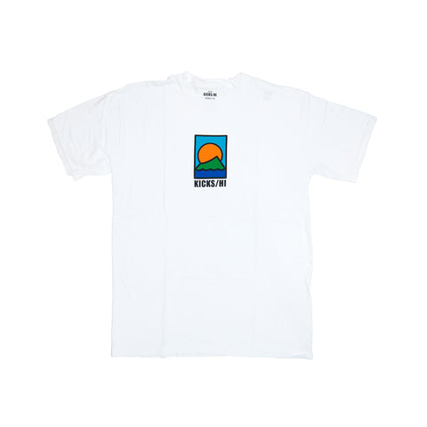 KICKS/H<BR>FA'20 'SPORTS & REC' GARMENT DYED T-SHIRT (WHITE)
