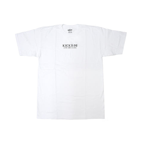 KICKS/HI<BR>SUMMER '20<BR>'LOVE & ALOHA' TEE (WHITE)