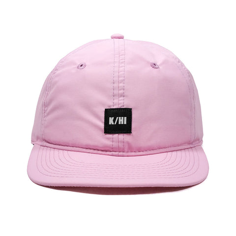 KICKS/HI <BR> 'K/HI BOX' LOGO UNSTRUCTURED 6-PANEL CAP (PINK MICRO RIPSTOP)