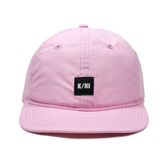"KICKS/HI <BR> ""K/HI BOX"" LOGO UNSTRUCTURED 6-PANEL CAP (PINK MICRO RIPSTOP)"