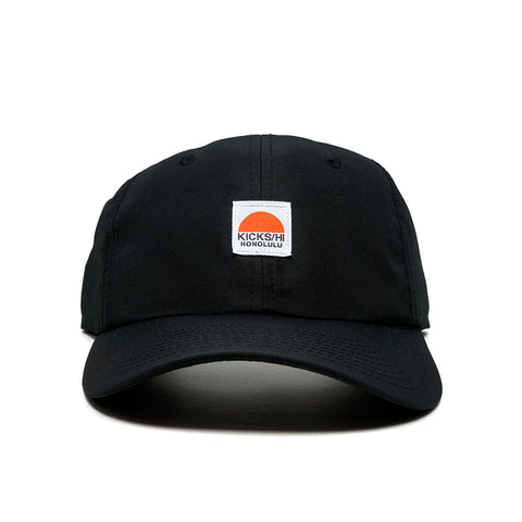 KICKS/HI<BR>'SUNRISE' 6-PANEL RUNNING CAP (BLACK)
