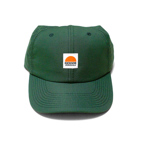 KICKS/HI<BR>SPRING '20<BR>'SUNRISE' 6-PANEL RUNNING CAP (FOREST GREEN)