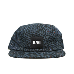 "KICKS/HI <BR> ""PATCHWORK"" MADE IN USA 5-PANEL CAMP (INDIGO)"