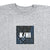 KICKS/HI <BR> K/HI BOX 'PATCHWORK' TEE (HEATHER GREY)