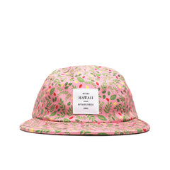 "KICKS/HI <BR> ""BOTANICAL"" MADE IN USA 5-PANEL CAMP (PINK)"