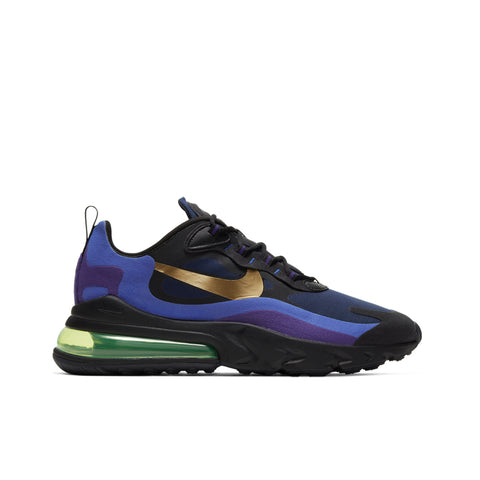 NIKE <BR> AIR MAX 270 REACT (BLACK / UNIVERSITY GOLD)