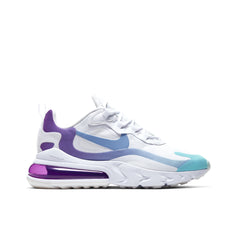 NIKE <BR> AIR MAX 270 REACT (WHITE / LIGHT BLUE)