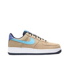 NIKE <BR> AIR FORCE 1 '07 LV8 (KHAKI / BLUE FURY)