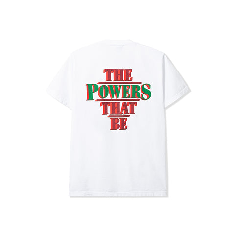 POWERS SUPPLY<BR>SPRING '20 DELIVERY 2<BR>'THE POWERS THAT BE TEE' (WHITE)