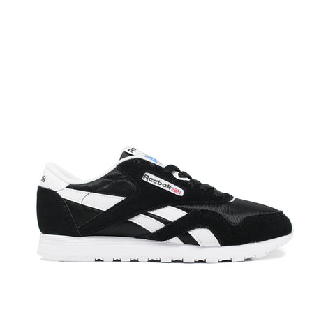 REEBOK <BR> CL NYLON (BLACK / WHITE)