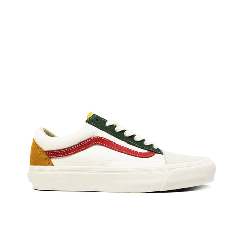 VANS VAULT <br> OG OLD SKOOL LX (WHITE / RED)