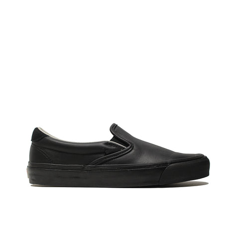 VANS VAULT <BR> OG SLIP-ON 59 LX 'LEATHER & SUEDE' (BLACK)