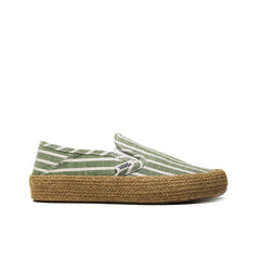 VANS <BR> WOMEN'S AUTHENTIC ESP 'STRIPED LINEN' (GARDEN GREEN)