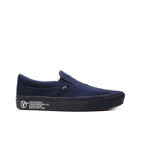 VANS <BR> COMFY CUSH SLIP-ON 'DISTORT' (DRESS BLUE)